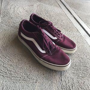 Vans Old Skool Shoes Maroon